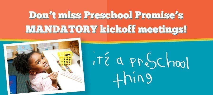 Kick-Off Meetings graphic with preschool student